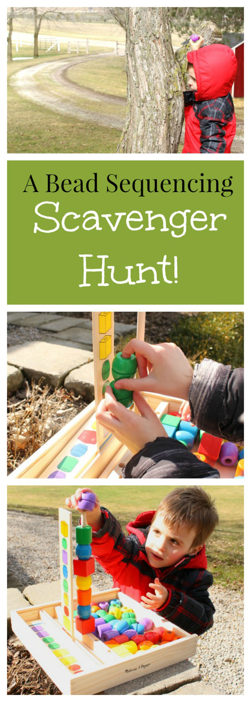 Outdoor Bead Sequencing Scavenger Hunt