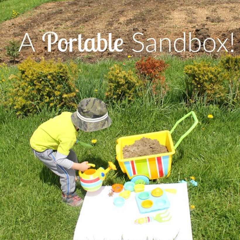 Sand Play On the Go Portable Sandbox for Kids