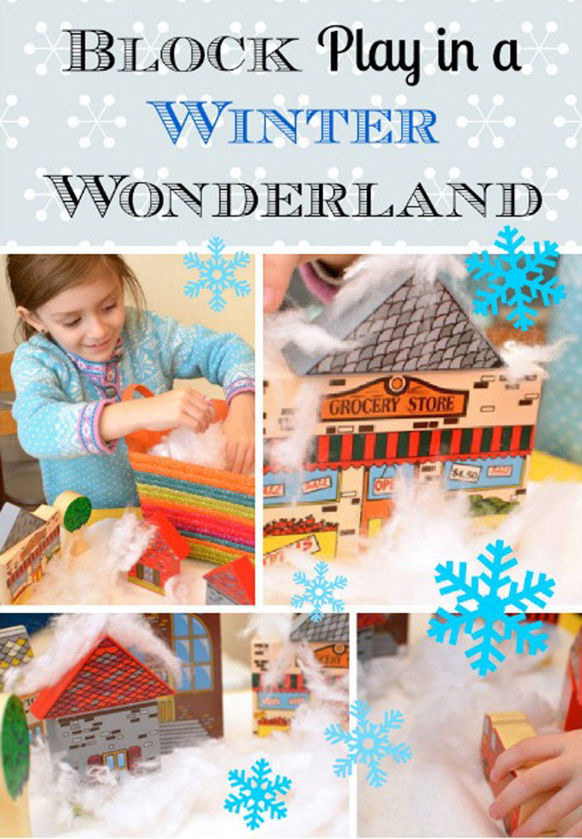 Block Play Winter Wonderland