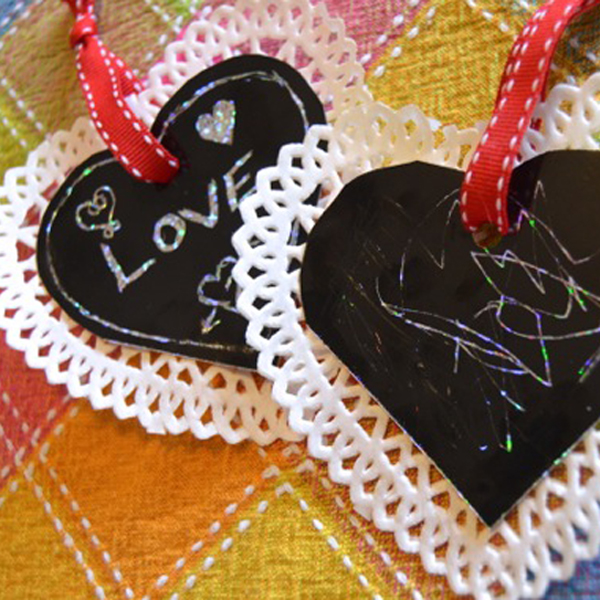 Val's Quick Craft: Scratch Art Valentines