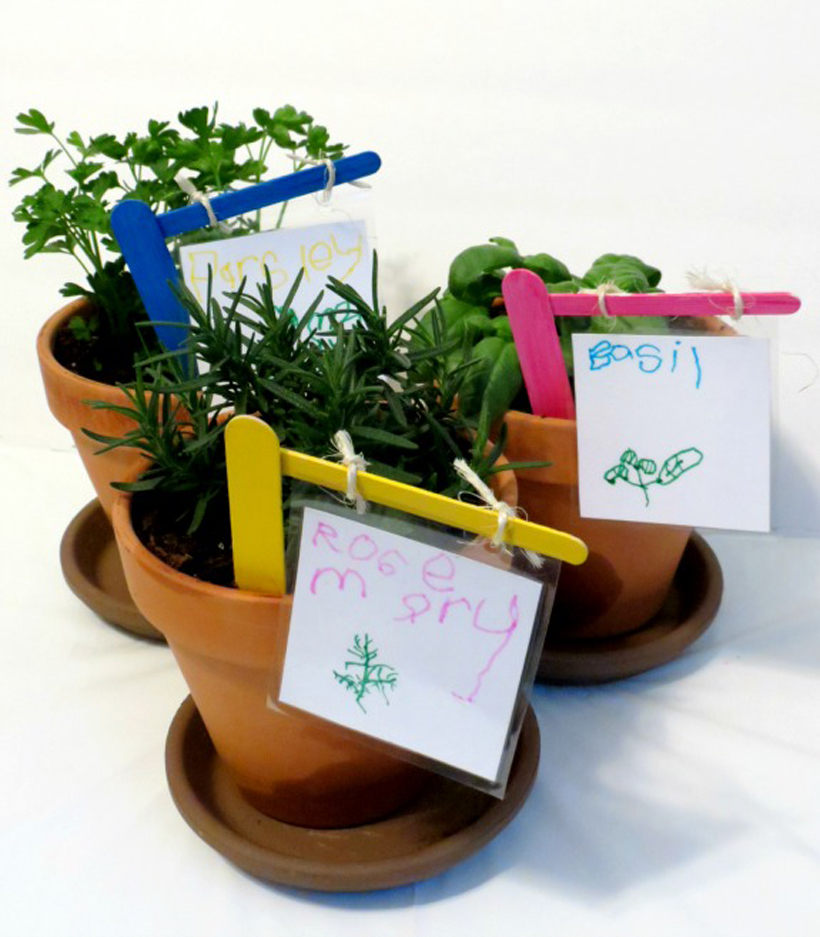Gardening with Kids Kid Made Plant Markers