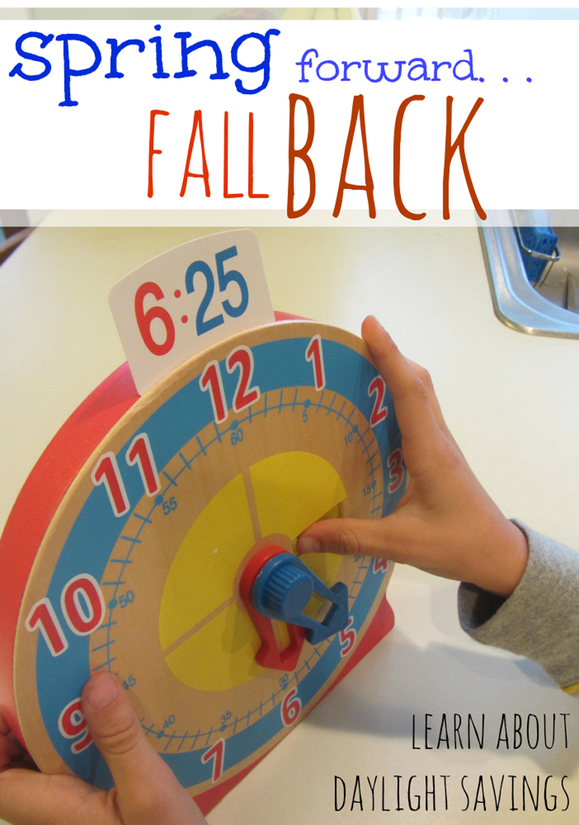 talking about daylight saving with kids turn and tell clock
