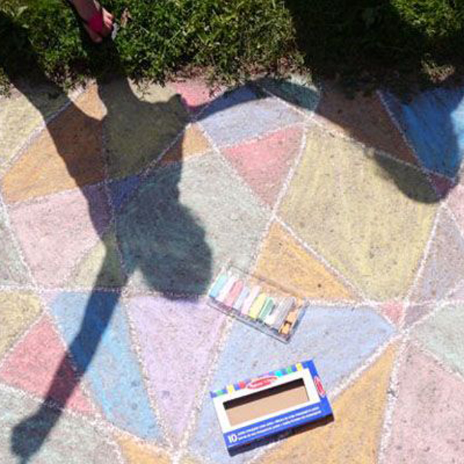 4 Ideas for Getting Creative with Sidewalk Chalk