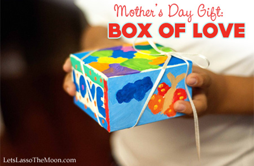 Parent Watercolor Give Mom a Box of Love