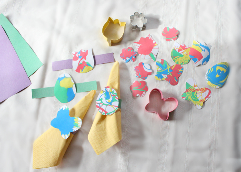 Springtime Decor with Spin Art Crafts