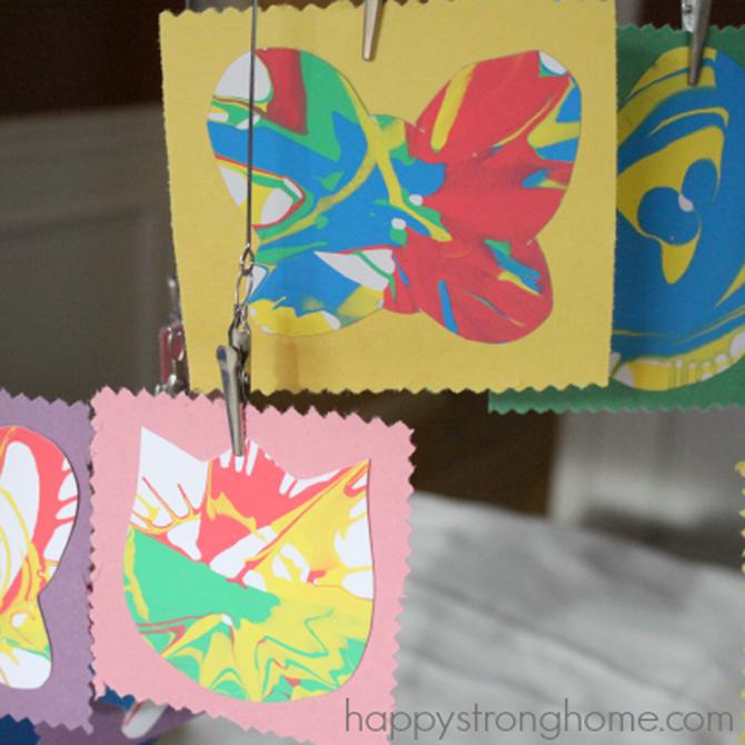 Springtime Decor with Spin Art Crafts