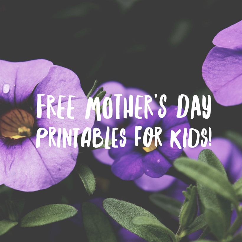 Free Mother's Day Printables for Kids