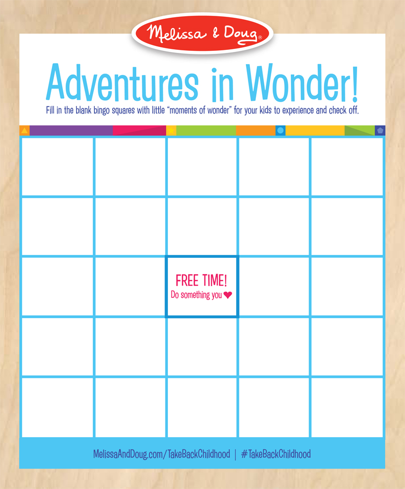Melissa's Playbook: 25 ways to experience wonder this Spring and Summer. *Melissa has created an adventures in wonder bingo card! This is a fun and easy way to have a fun day with the kids in the spring and summer!