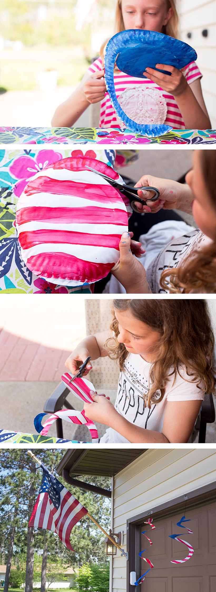 Patriotic Craft for Kids: Super-Simple American Flag Wind Spinners - Celebrate Independence Day with this easy children's art project *Love these! Perfect for Labor Day weekend too.