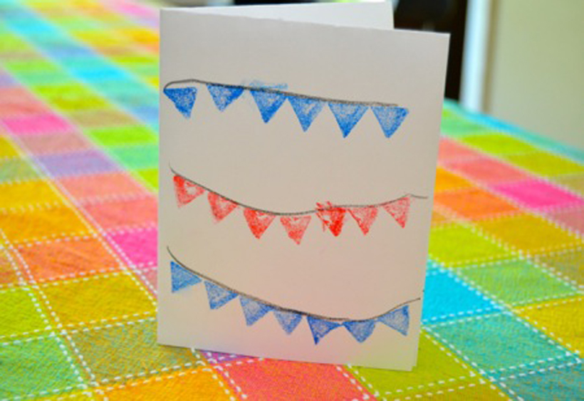 Val's Crafty Corner: Patriotic Note Cards