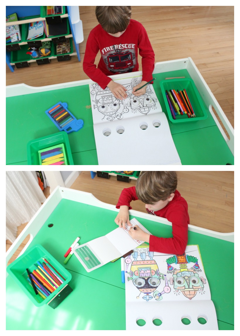 Create a Storytelling Station for the kids! *This is a great way to inspire imagination and a sense of wonder. They can create their own stories and adventures. This is good for all ages!