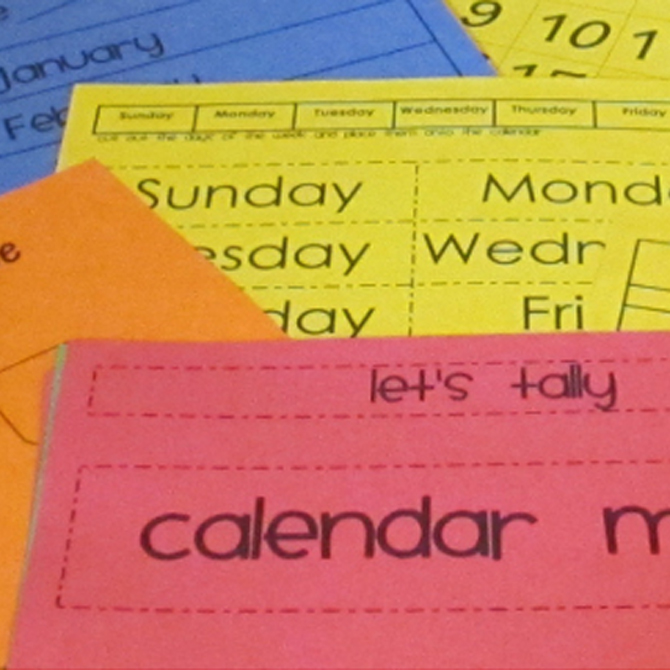 Making a DIY Calendar with Preschoolers: Part One