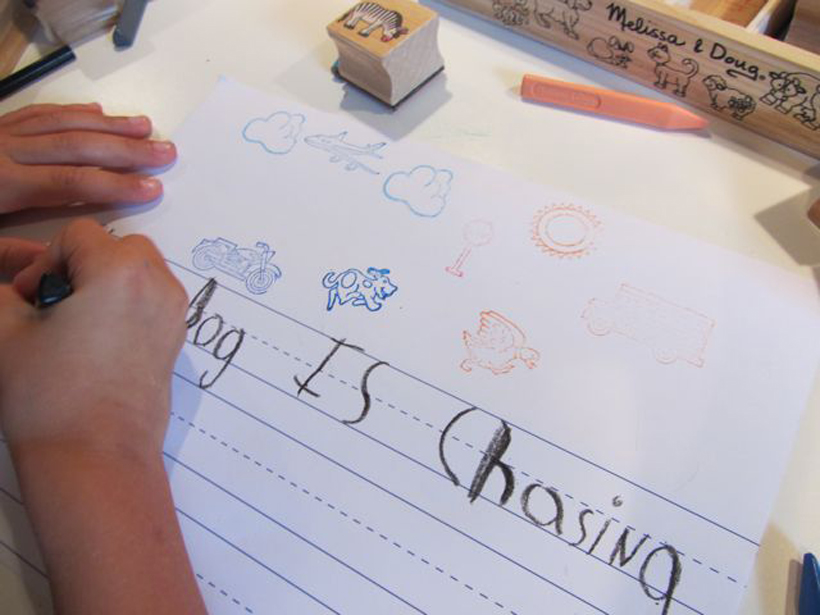 Storytelling with Stamps *Storytelling with Stamps is a great way to get kids' creative juices flowing, their pencils moving, and their smiles growing!