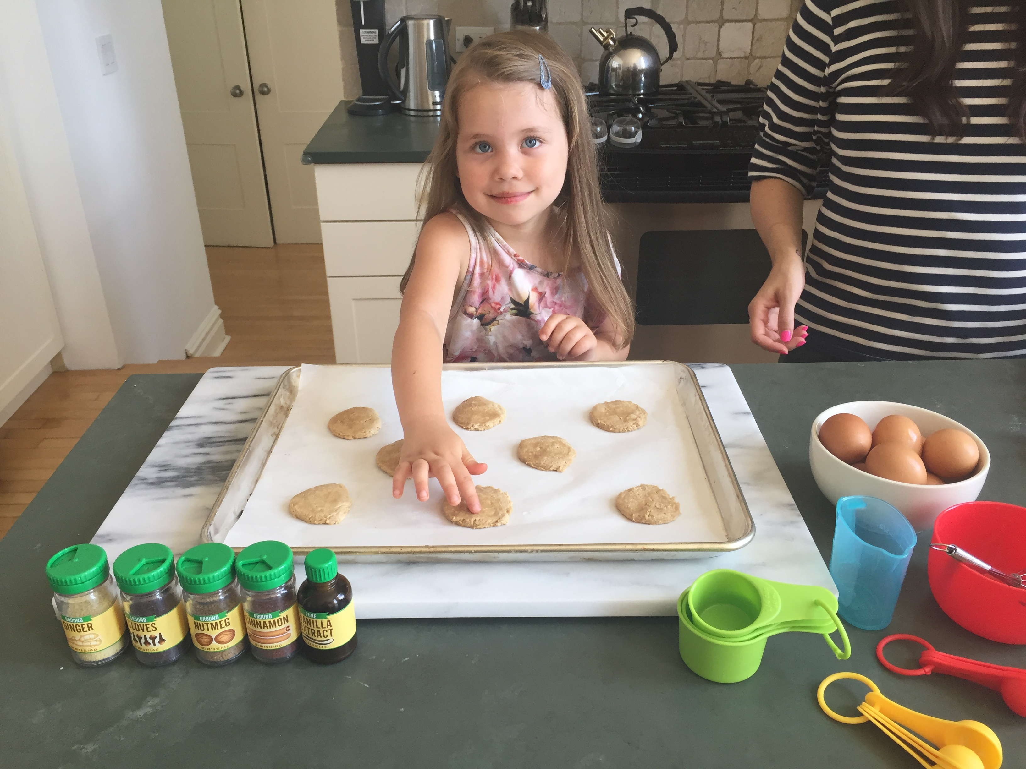 "It's National Ice Cream Day! Here is a recipe for Ice Cream Sandwiches with Baker and DJ Justine D! Her toddler helps her crack eggs and while she does the ""hard stuff"" her daughter plays with the Melissa and Doug Frozen Treats Set!"