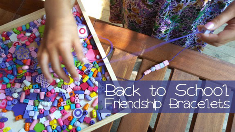 Rekindling Back to School Friendships DIY Friendship Bracelets * This simple creative kids craft is great for rekindling friendships and back to school friendships with Melissa & Doug diy friendship bracelet craft kits.