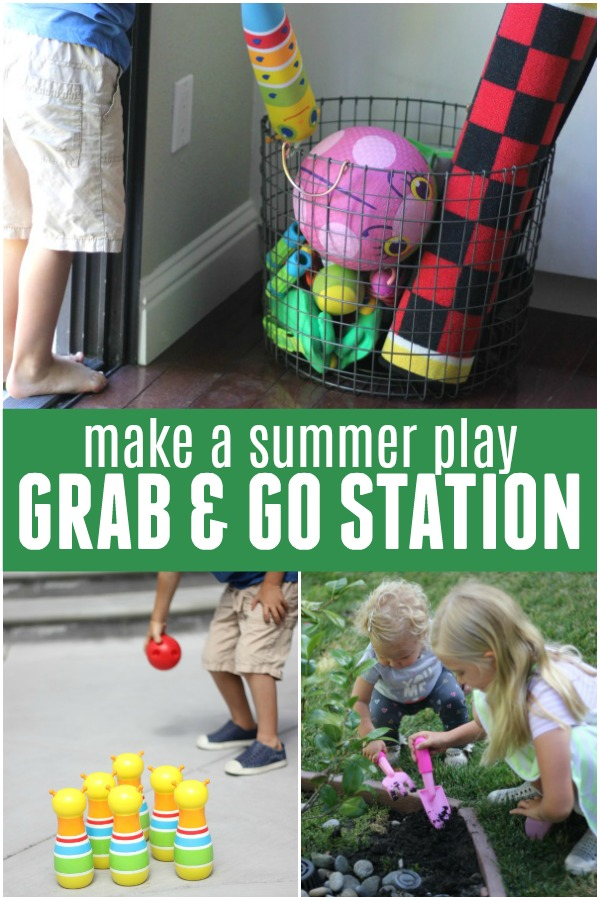 Make a Summer Play Grab & Go Station and keep kids occupied all summer long!