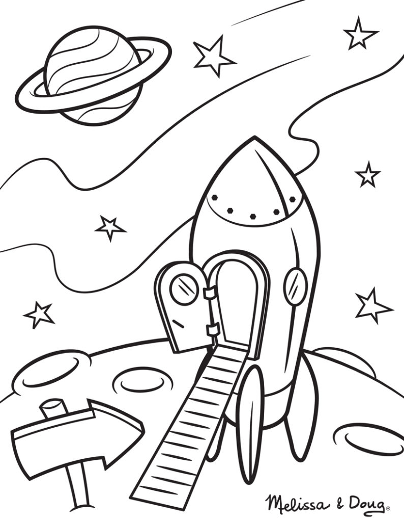 Exploring kids career day through play melissa doug blog for Solar eclipse coloring page