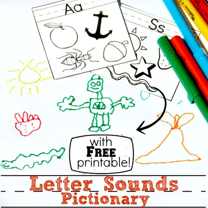 Letter Sounds Pictionary (plus printable!)