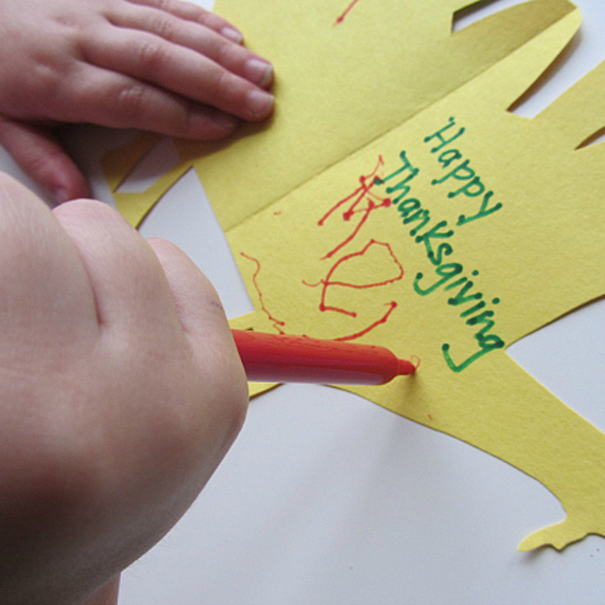 Easiest Ever Handprint Turkey