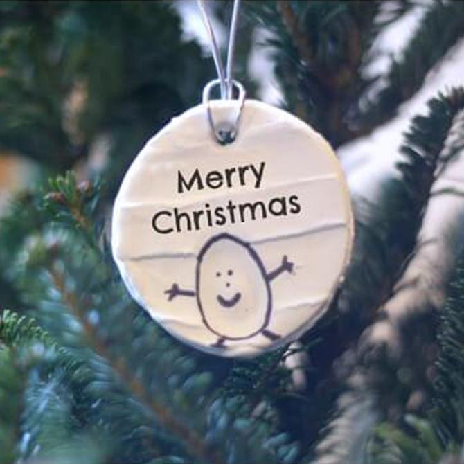 Simple Thumbprint Ornaments