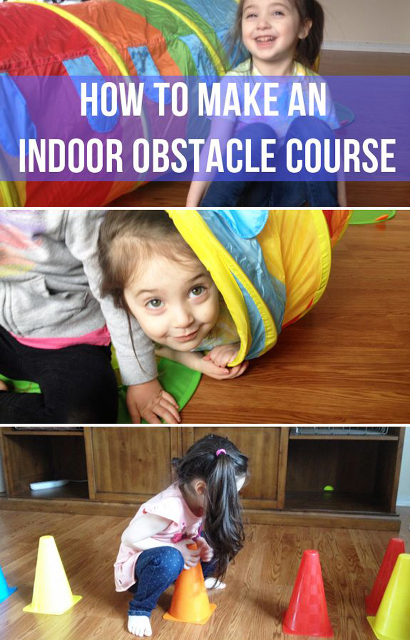 How to Make an Indoor Obstacle Course *It's simple to make an indoor obstacle course for kids when it's cold or wet outside, with tips on the Melissa & Doug Blog.