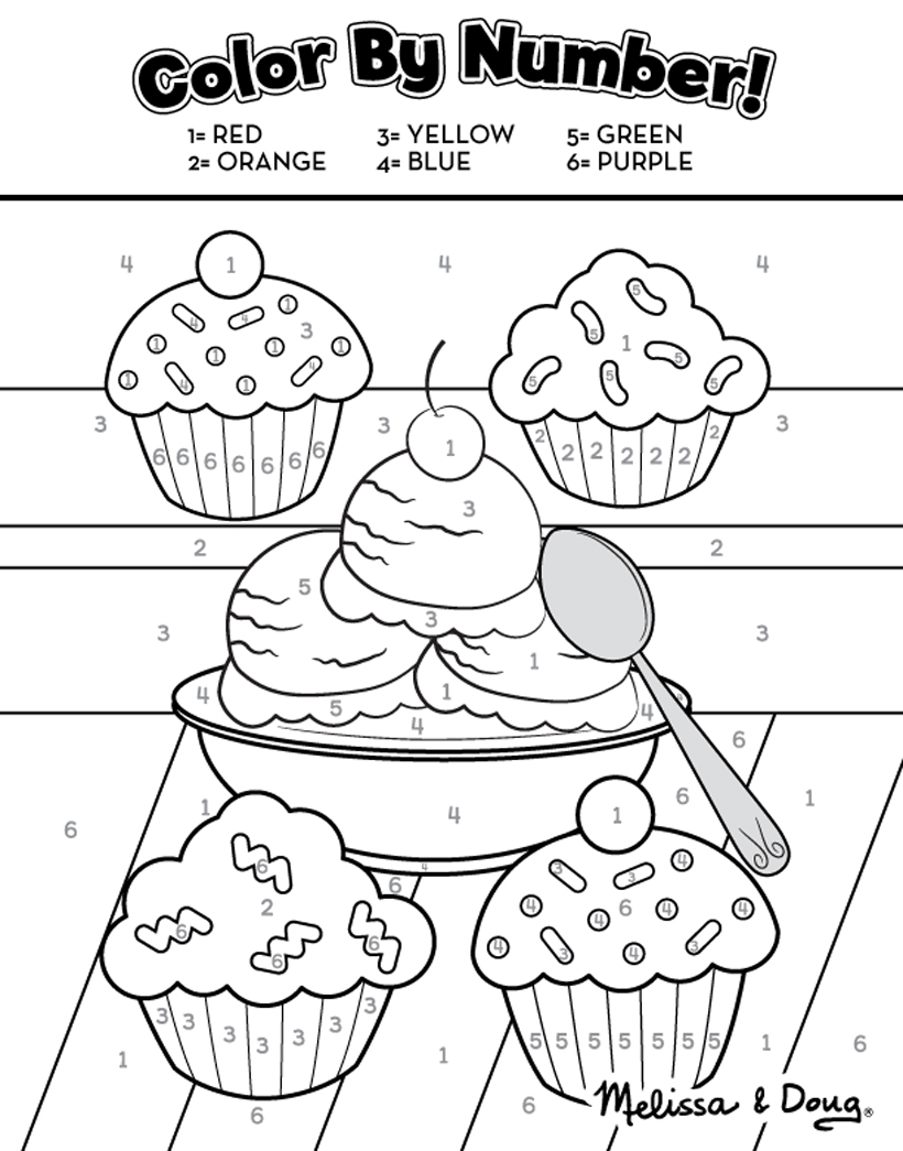 Sweet Treats: 2 Free Printable Activity Pages *Kids can get creative with these 2 free sweet treats printable activity pages on the Melissa & Doug Blog.