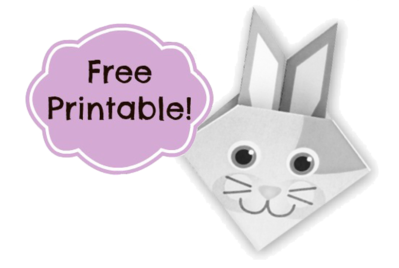 Celebrate spring by making your own diy origami bunny crafts, using this free printable on the Melissa & Doug Blog.