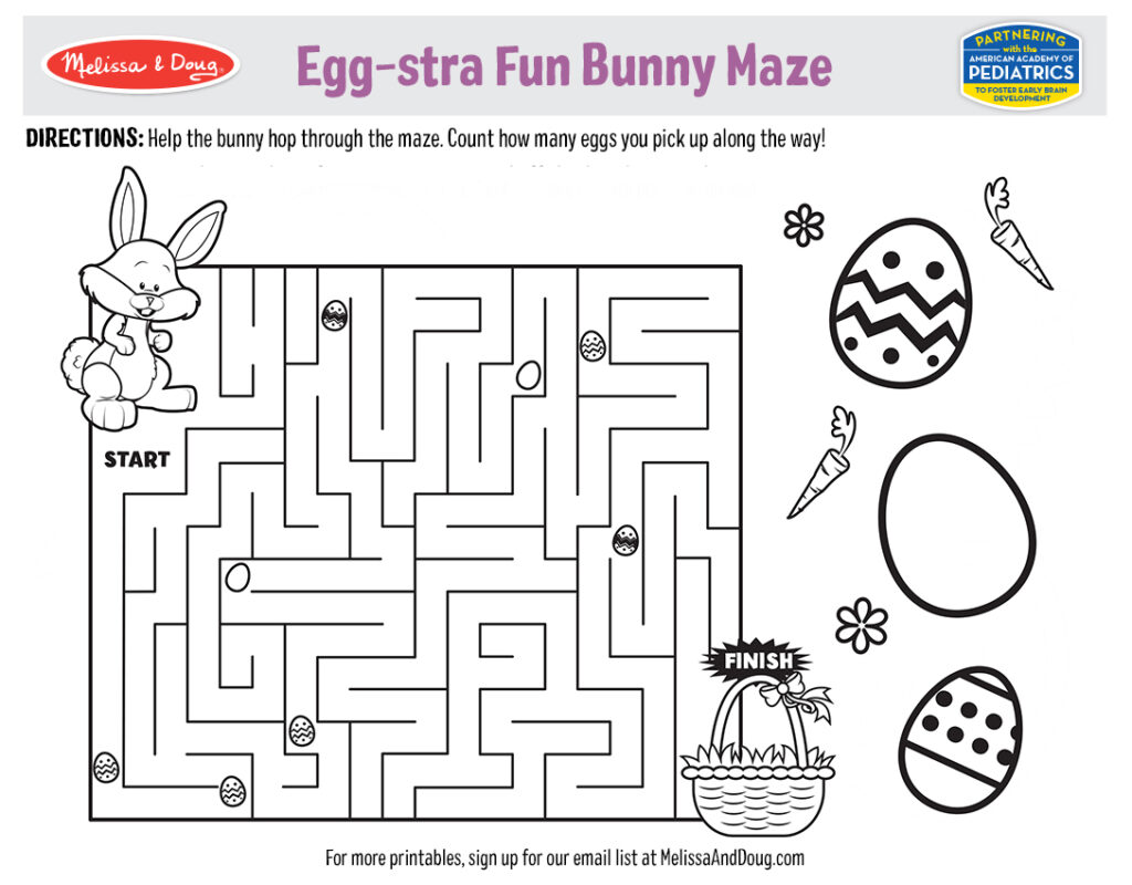 Easter Bunny Maze Activity