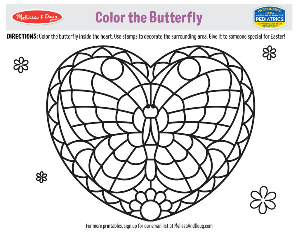 Color the Butterfly Activity