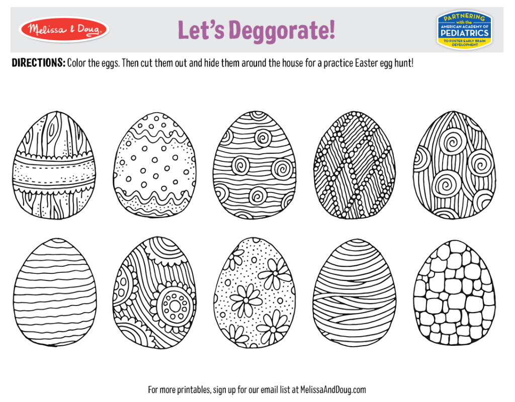 Let's Deggorate! Activity