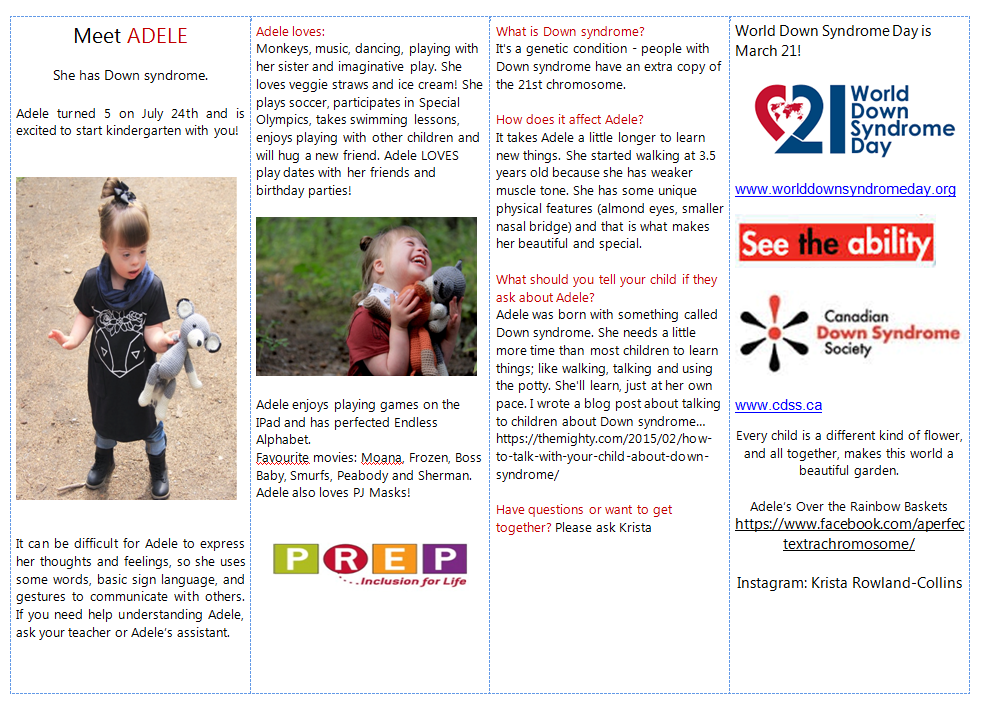 Meet Adele Brochure for Back to School