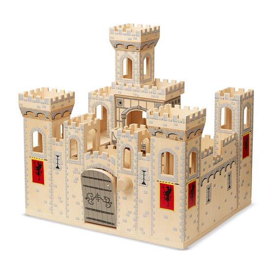 Folding Medieval Wooden Castle