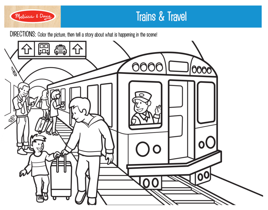 Printable_Coloring-TrainsAndTravel