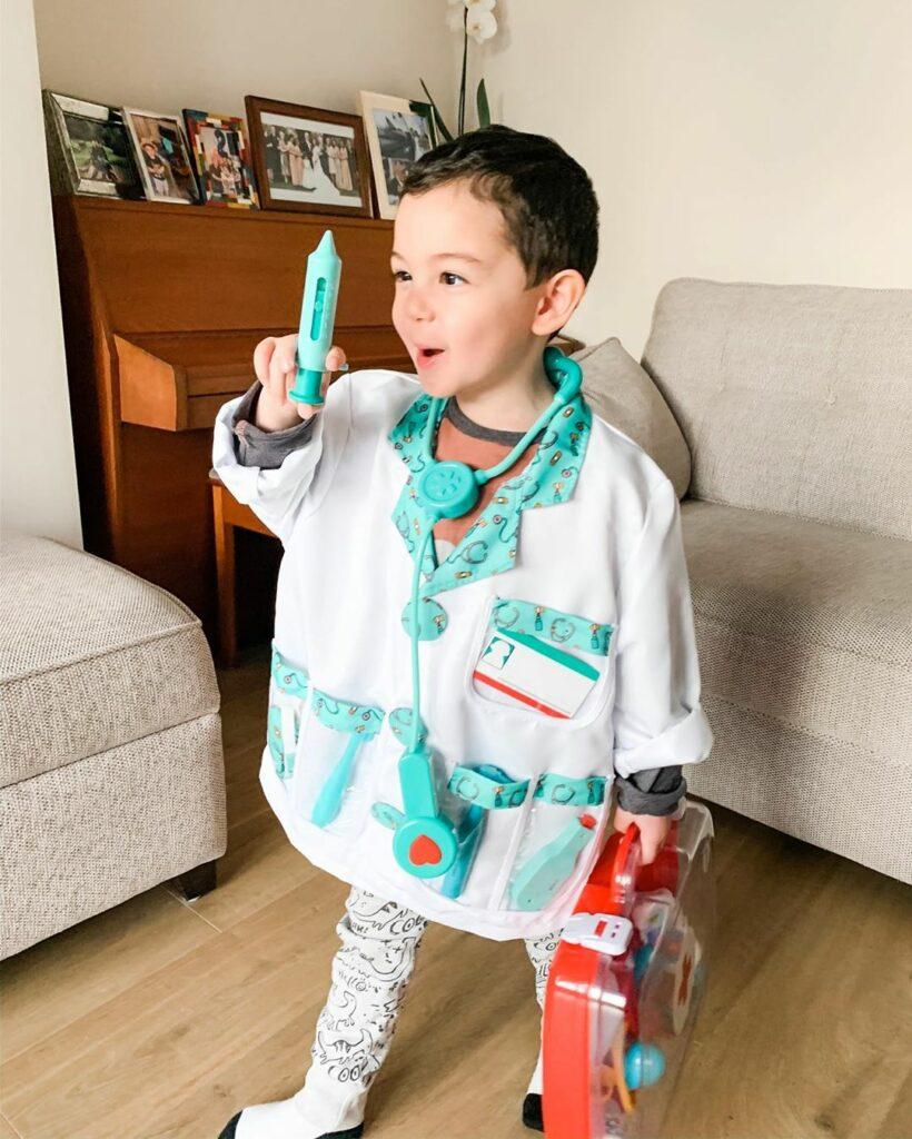kid in doctor costume