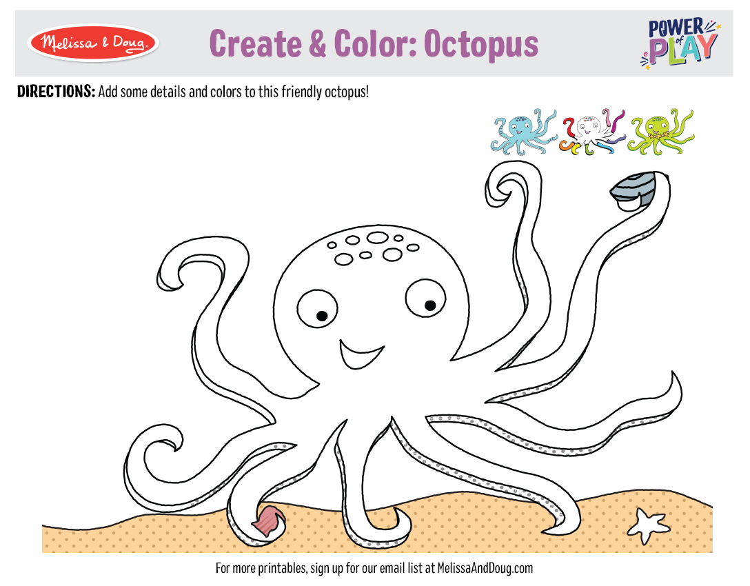 5 Free Printables for Under the Sea Drawing & Coloring Fun