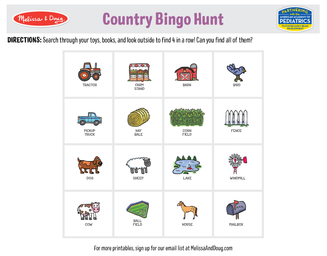 4 Free Printables for Kids Who Love Bingo