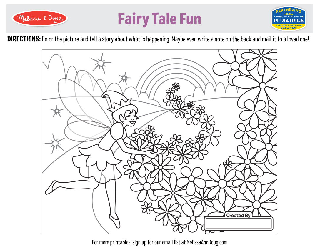 5 Free Printables for Fairy Tale Coloring Fun