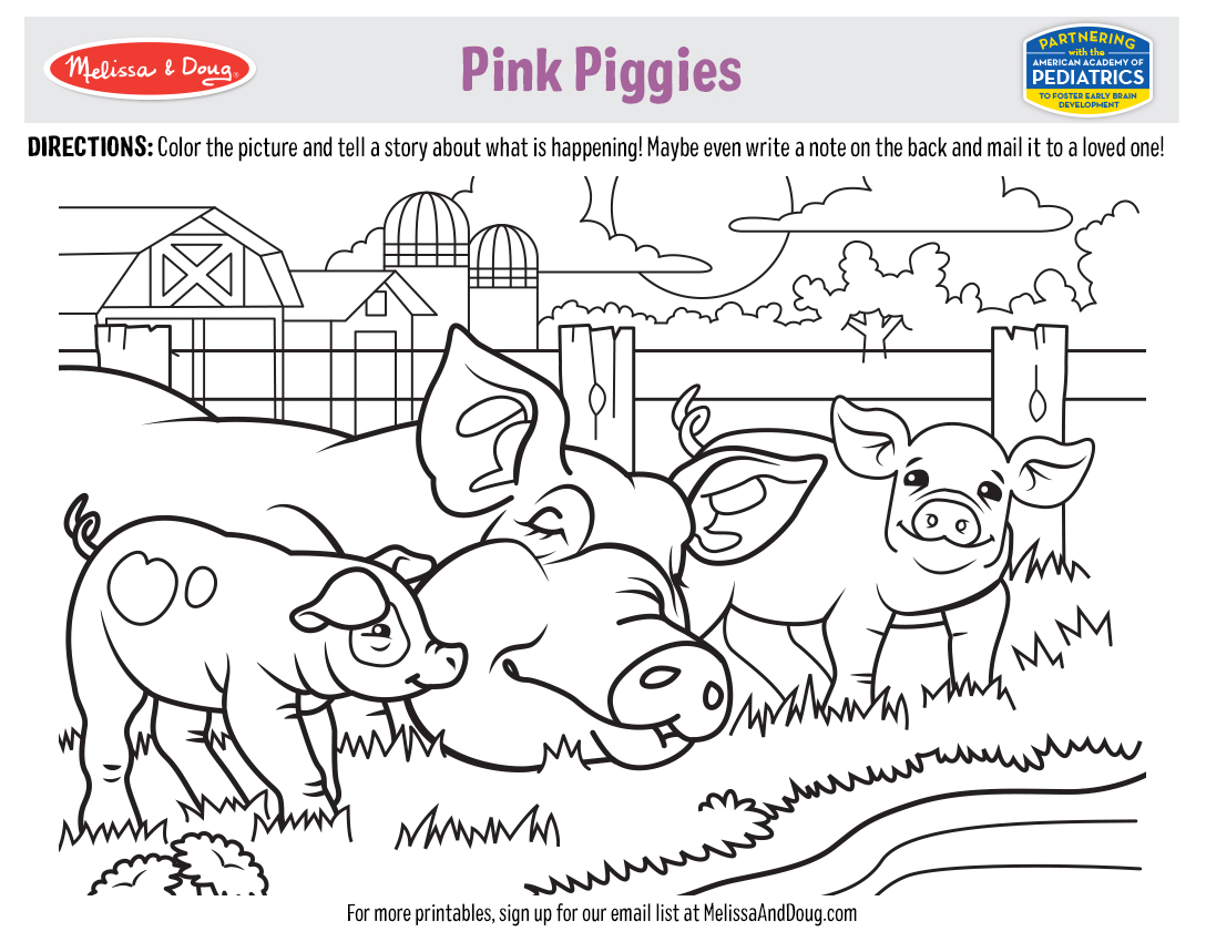 5 Free Printables: Animals & Coloring