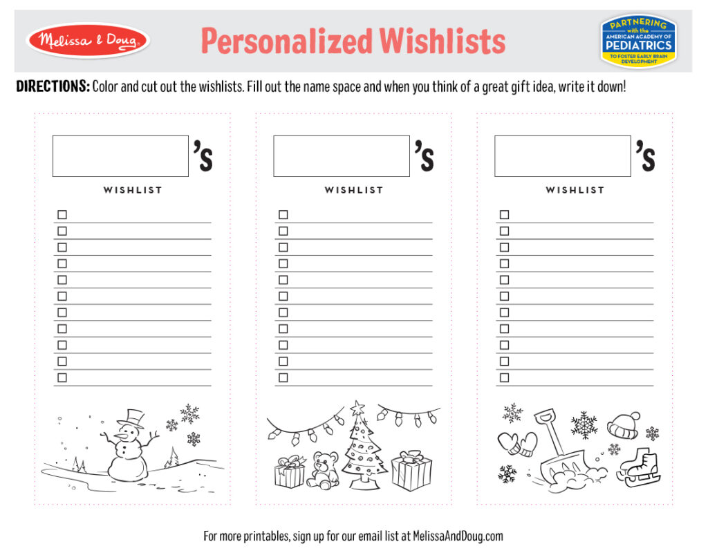 Printable_Holiday_Wishlists
