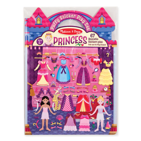 Puffy Stickers Play Set: Princess Image