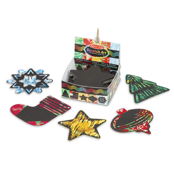 Scratch Art Holiday Mini Notes Image