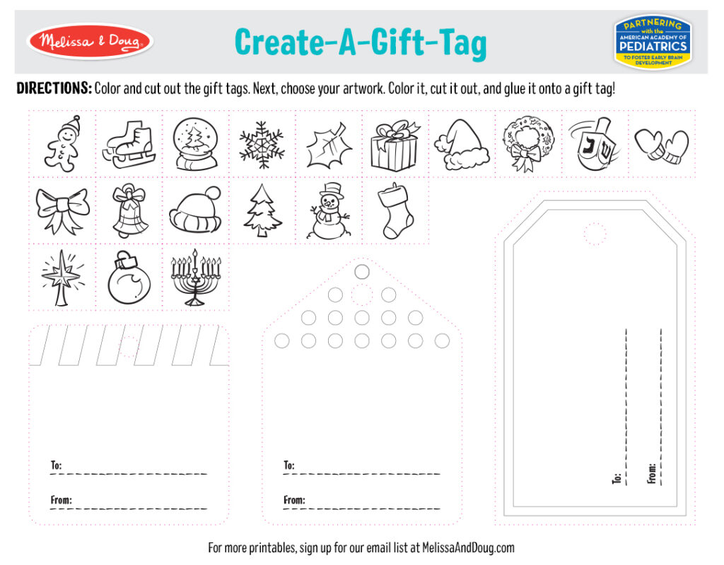 Holiday Printables - Create Your Own Gift Tags