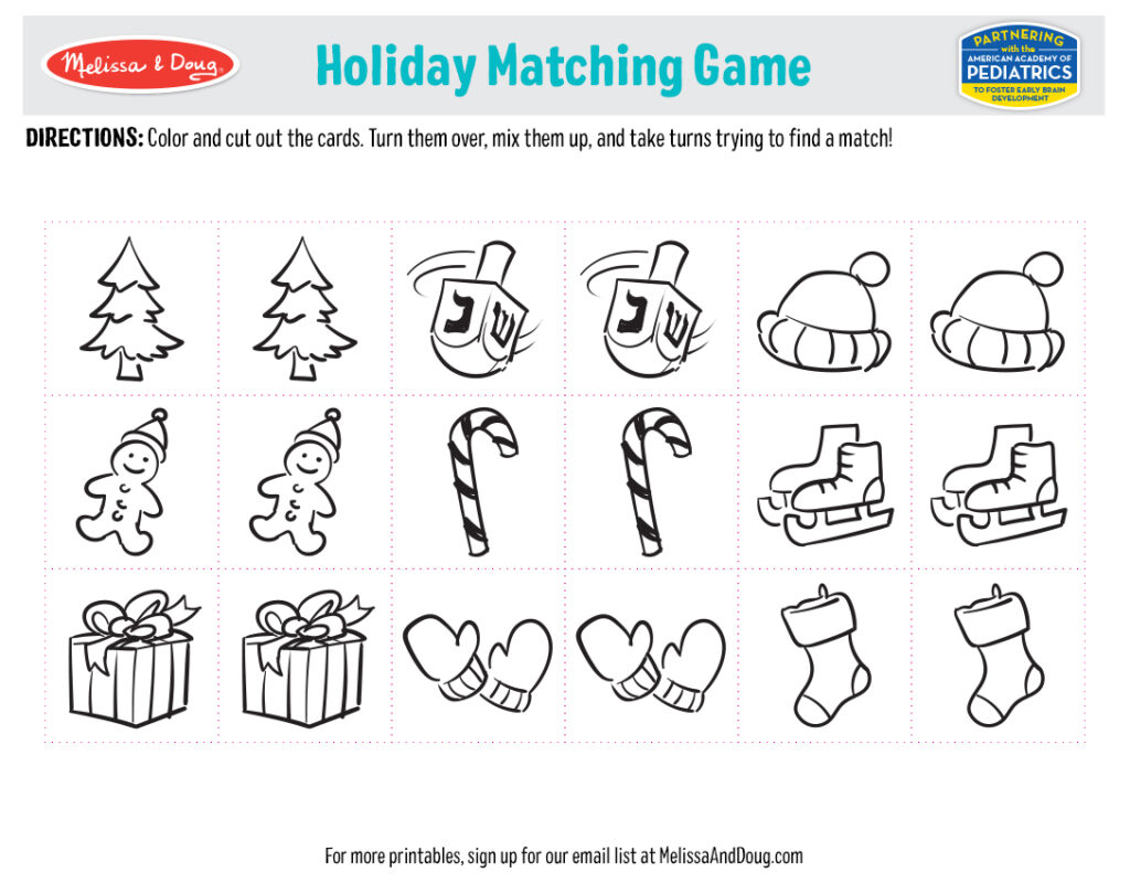 Holiday Printables - Matching Game Image