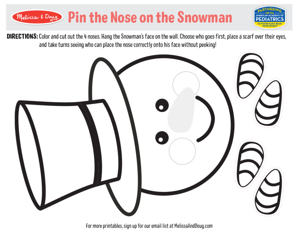 Holiday Game: Pin the Nose on the Snowman Image