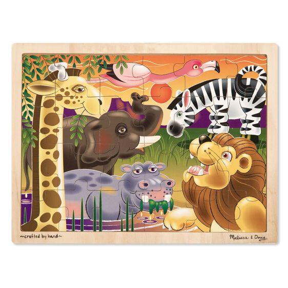 Melissa & Doug African Plains Wooden Jigsaw Puzzle - 24 Pieces