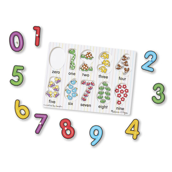 Melissa & Doug See-Inside Numbers Peg Puzzle - 10 pieces