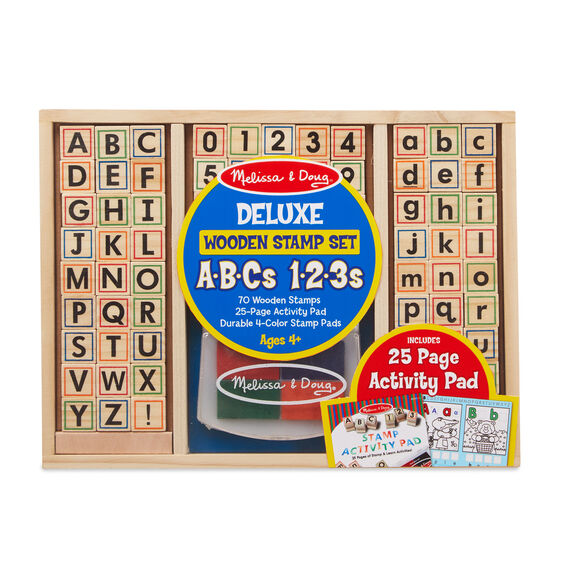 Melissa & Doug Deluxe Wooden Stamp Set