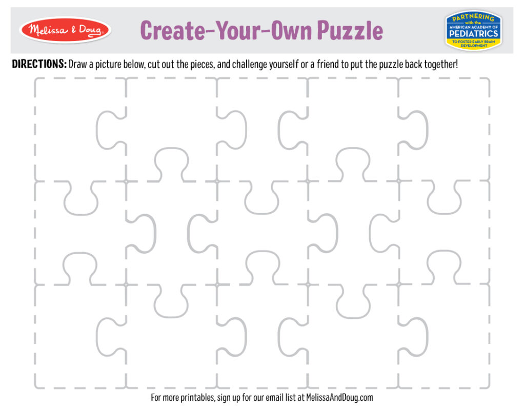 Printable - Create-Your-Own Puzzle