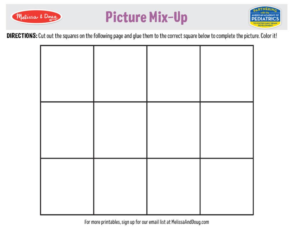 Puzzle Printables - Puzzle Mix-Up 1