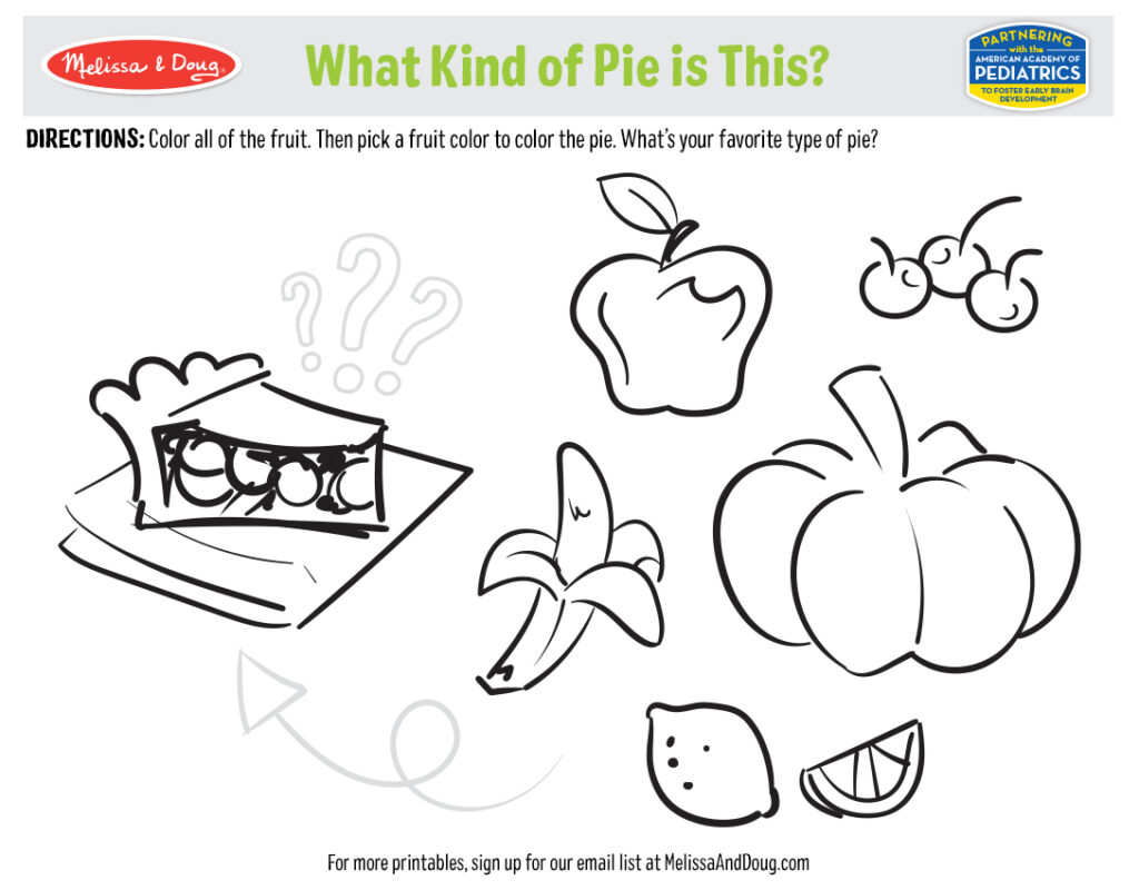 Printable - What's Your Favorite Kind of Pie?